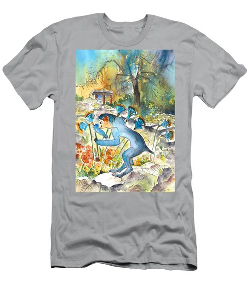 The Minotaur In Knossos Men's T-Shirt (Slim Fit) by Miki De Goodaboom