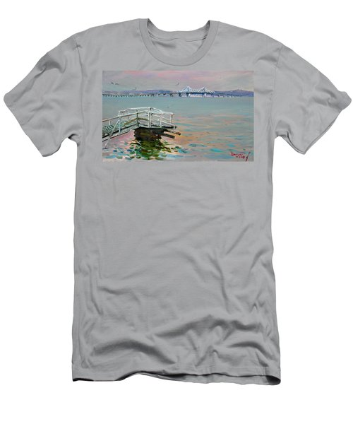 The Old Deck And Tappan Zee Bridge Men's T-Shirt (Athletic Fit)