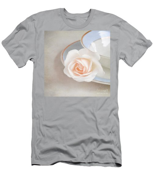 The Sweetest Rose Men's T-Shirt (Slim Fit) by Lyn Randle