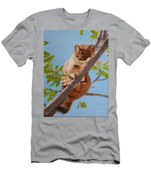 Men's T-Shirt (Athletic Fit) featuring the painting The Weasel by Tammy Taylor