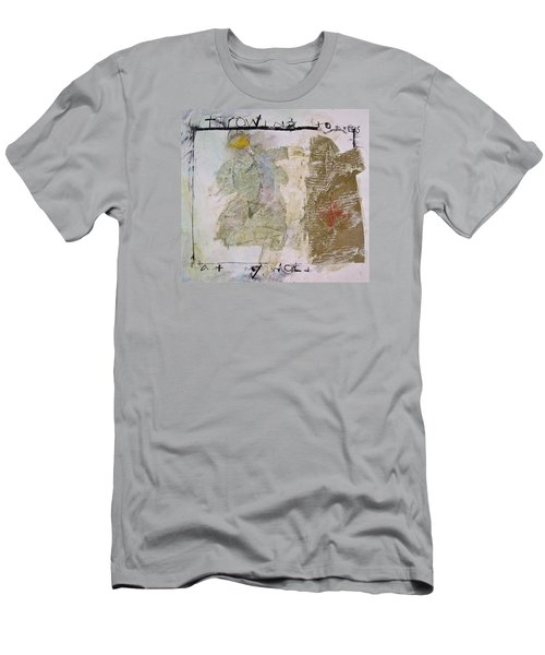 Men's T-Shirt (Slim Fit) featuring the painting Throwing Stones At My World by Cliff Spohn
