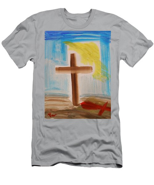 Tim Tebow's Cross-easter Monday Men's T-Shirt (Athletic Fit)