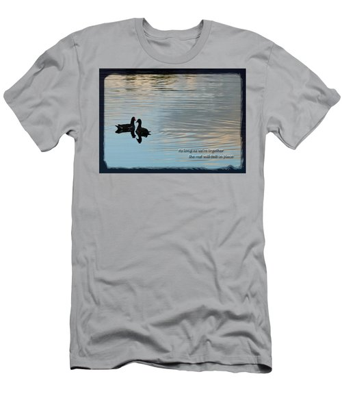 Men's T-Shirt (Slim Fit) featuring the photograph Together by Steven Sparks
