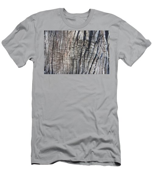 Men's T-Shirt (Slim Fit) featuring the photograph Tree Bark No. 1 Stress Lines by Lynn Palmer