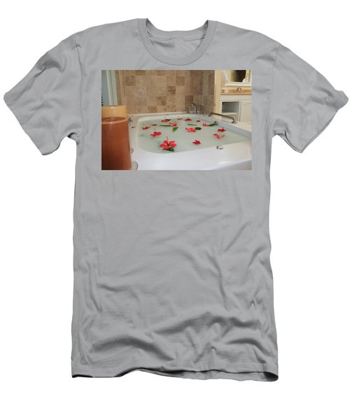 Tub Of Hibiscus Men's T-Shirt (Athletic Fit)