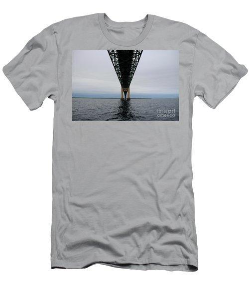 Under The Mackinac Bridge Men's T-Shirt (Athletic Fit)