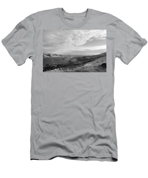 Men's T-Shirt (Slim Fit) featuring the photograph View From The Hill Columbia River by Kathleen Grace