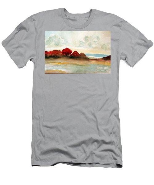 Watercolor Bay Men's T-Shirt (Athletic Fit)
