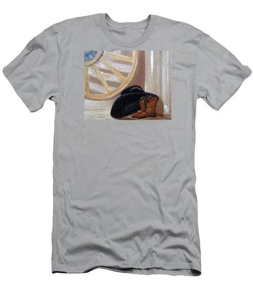 Western Art Work For Luke Men's T-Shirt (Athletic Fit)