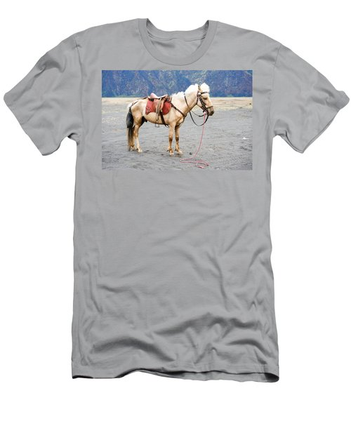 Men's T-Shirt (Slim Fit) featuring the photograph White Horse by Yew Kwang