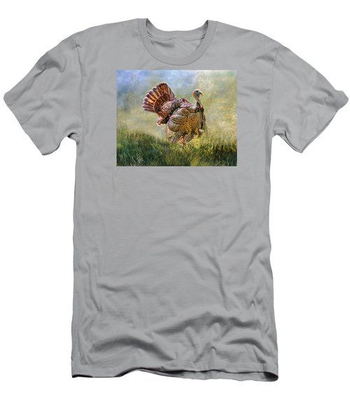Men's T-Shirt (Slim Fit) featuring the digital art Wild Turkey by Mary Almond