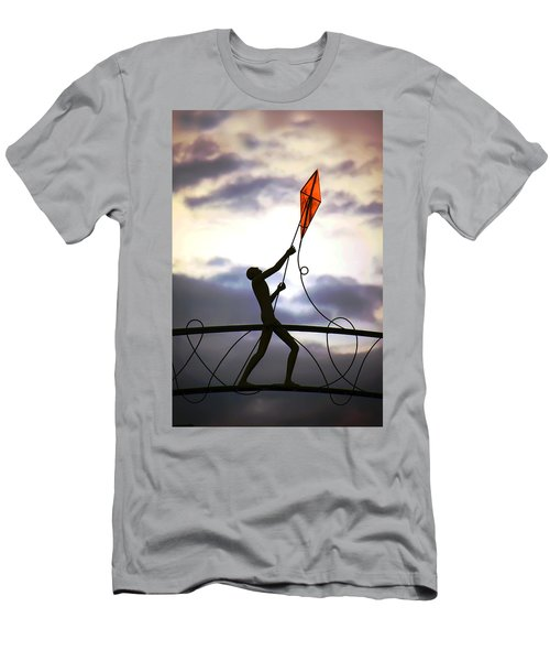 Men's T-Shirt (Athletic Fit) featuring the photograph Winchester Kite by KG Thienemann