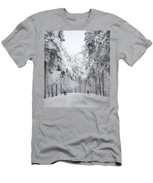 Winter Activities Men's T-Shirt (Athletic Fit)