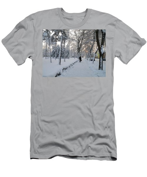 Winter In Mako Men's T-Shirt (Slim Fit) by Anna Ruzsan