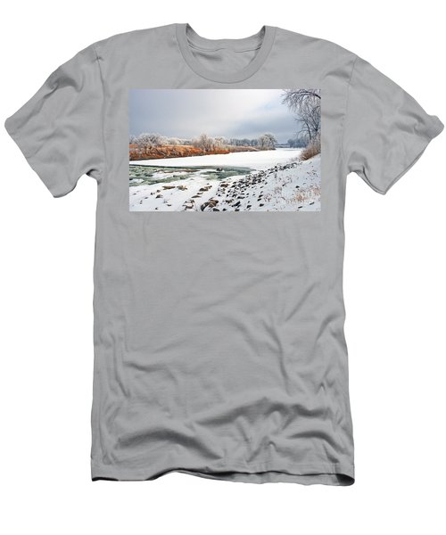 Winter Red River 2012 Men's T-Shirt (Athletic Fit)