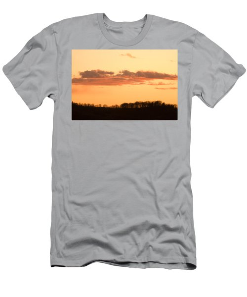 Wispy Clouds At Sunset Men's T-Shirt (Athletic Fit)