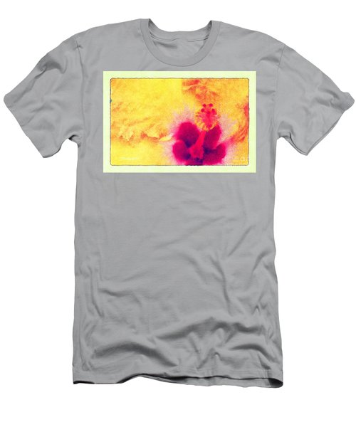 Men's T-Shirt (Athletic Fit) featuring the photograph Yellow Hibiscus Flower by Donna Bentley