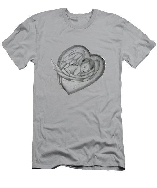 Baby Angel Men's T-Shirt (Slim Fit) by Vesna Martinjak