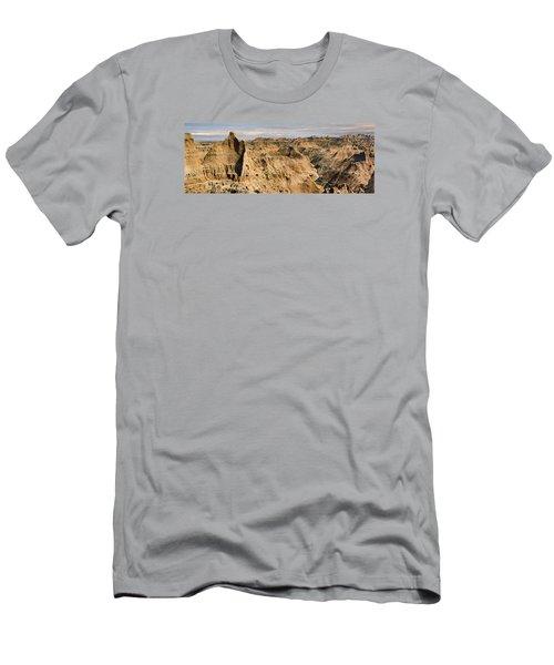 Men's T-Shirt (Slim Fit) featuring the photograph  Badlands South Dakota by John Hix