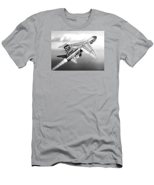 F-8e Crusader Drawing Men's T-Shirt (Slim Fit) by Douglas Castleman