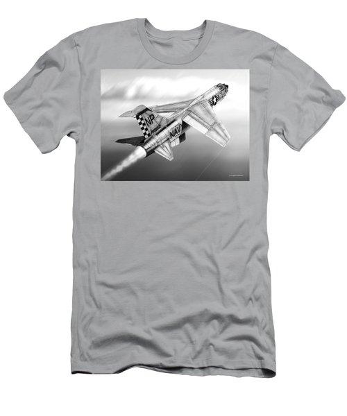 F-8e Crusader Drawing Men's T-Shirt (Athletic Fit)