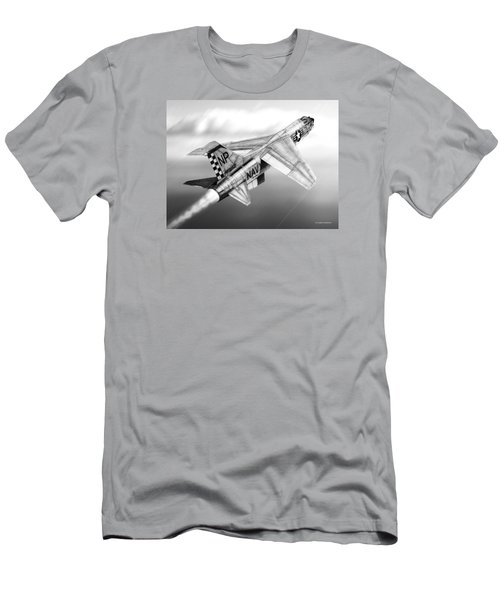 F-8e Crusader Drawing Men's T-Shirt (Athletic Fit)