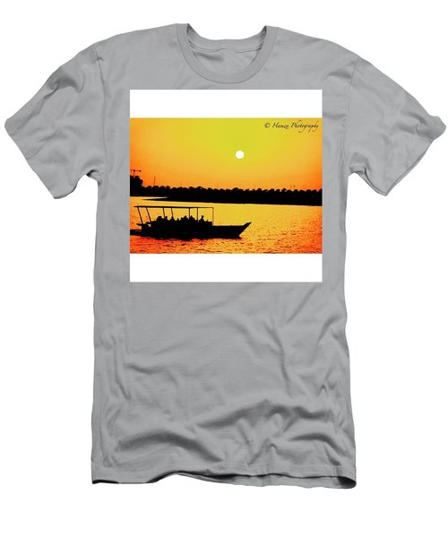 Boat During Sunset  Men's T-Shirt (Athletic Fit)