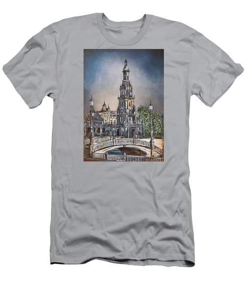 Plaza De Espana In Seville Men's T-Shirt (Athletic Fit)
