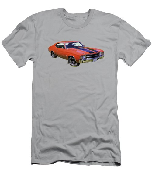 Red 1971 Chevrolet Chevelle Ss Men's T-Shirt (Athletic Fit)