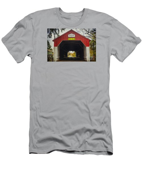 Uhlerstown Covered Bridge Iv Men's T-Shirt (Athletic Fit)