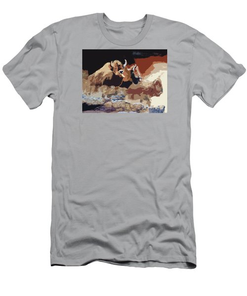 010316 Ancient Buffalo Hunt Men's T-Shirt (Slim Fit) by Garland Oldham