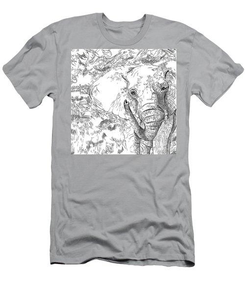 02 Of 30 Elephant Men's T-Shirt (Athletic Fit)