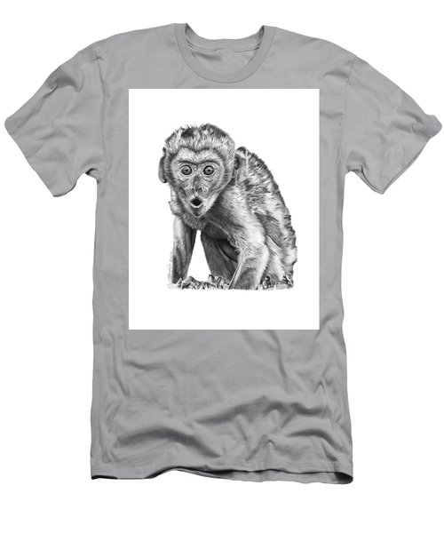 Men's T-Shirt (Slim Fit) featuring the drawing 057 Madhula The Monkey by Abbey Noelle