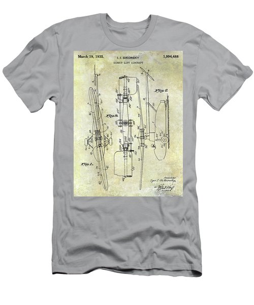 1935 Helicopter Patent  Men's T-Shirt (Athletic Fit)