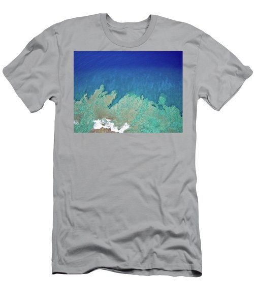 Abstract Aerial Reef Men's T-Shirt (Athletic Fit)