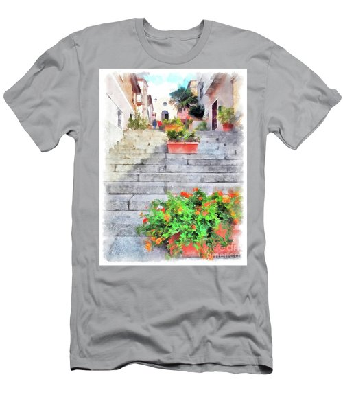 Arzachena Staircase And Church Of The Santa Lucia Men's T-Shirt (Athletic Fit)