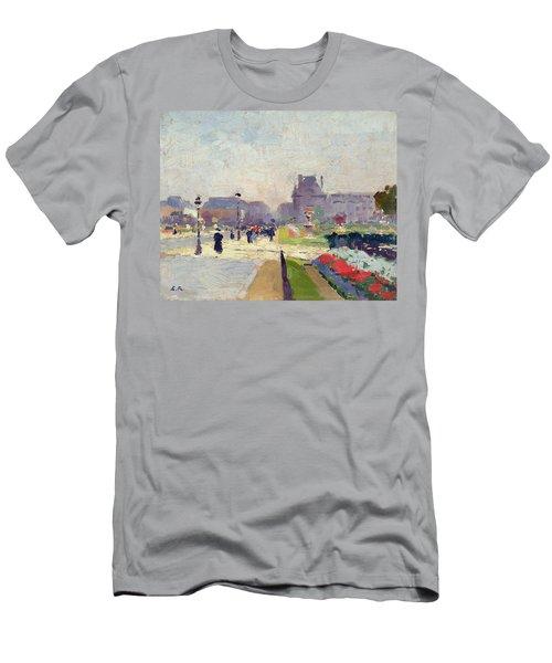 Avenue Paul Deroulede Men's T-Shirt (Slim Fit) by Jules Ernest Renoux