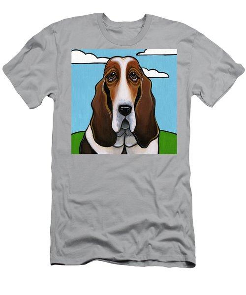 Basset Hound Men's T-Shirt (Athletic Fit)