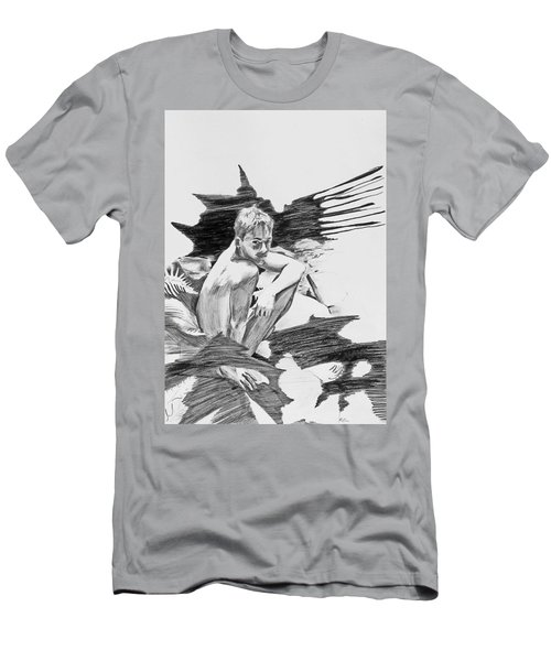 Men's T-Shirt (Athletic Fit) featuring the painting Bathed In White Light by Rene Capone