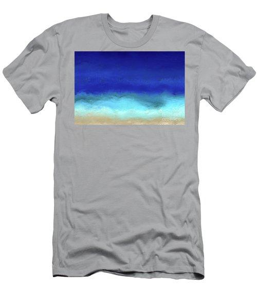 Beach Scene 8. Aqua Beach Blues Men's T-Shirt (Slim Fit) by Mark Lawrence