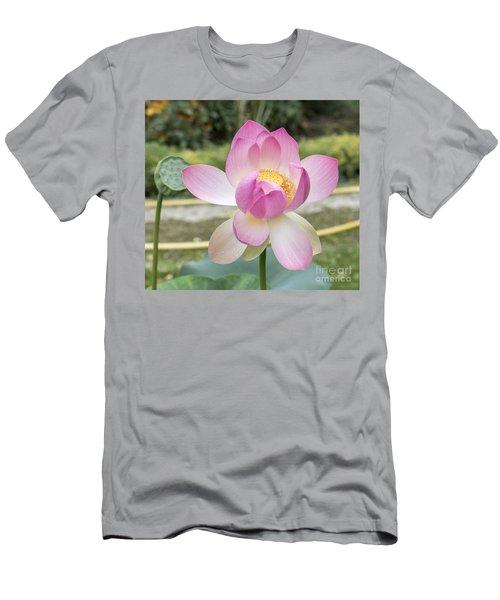 Beautiful Indian Lotus Men's T-Shirt (Athletic Fit)