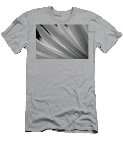 Black And White Mum Petals Men's T-Shirt (Athletic Fit)