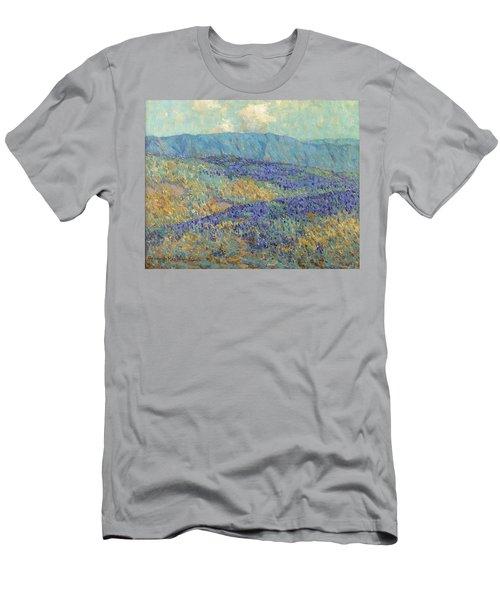 Blue Flowers Men's T-Shirt (Athletic Fit)