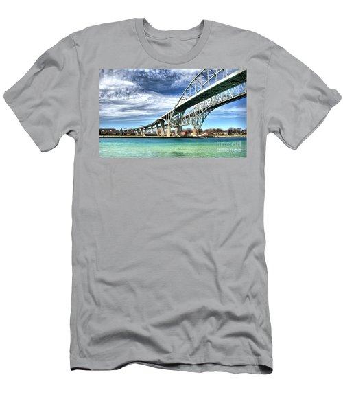 Blue Water Bridge Men's T-Shirt (Athletic Fit)