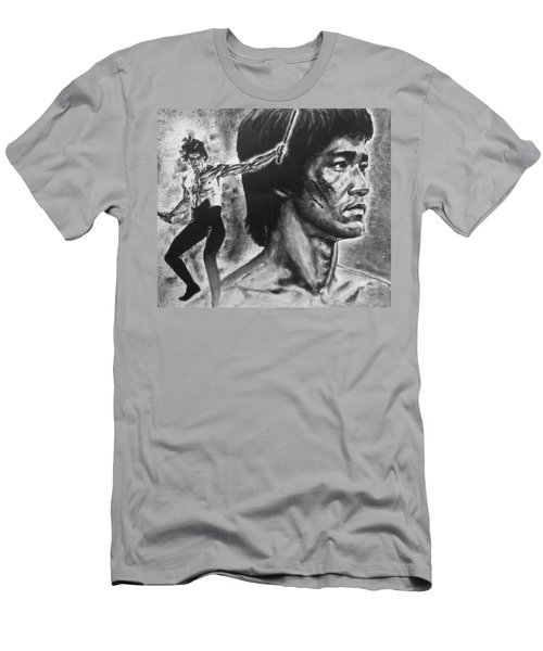 Men's T-Shirt (Slim Fit) featuring the painting Bruce Lee by Darryl Matthews