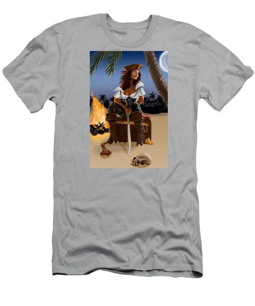 Men's T-Shirt (Athletic Fit) featuring the digital art Buckling The Swash by Doug Schramm