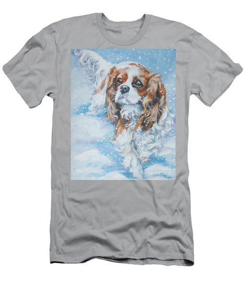 Cavalier King Charles Spaniel Blenheim In Snow Men's T-Shirt (Athletic Fit)