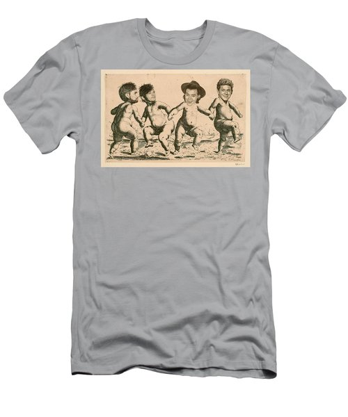 Celebrity Etchings - One Direction   Men's T-Shirt (Athletic Fit)