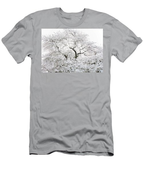 Men's T-Shirt (Athletic Fit) featuring the photograph Cherry Blossoms by Peter Simmons
