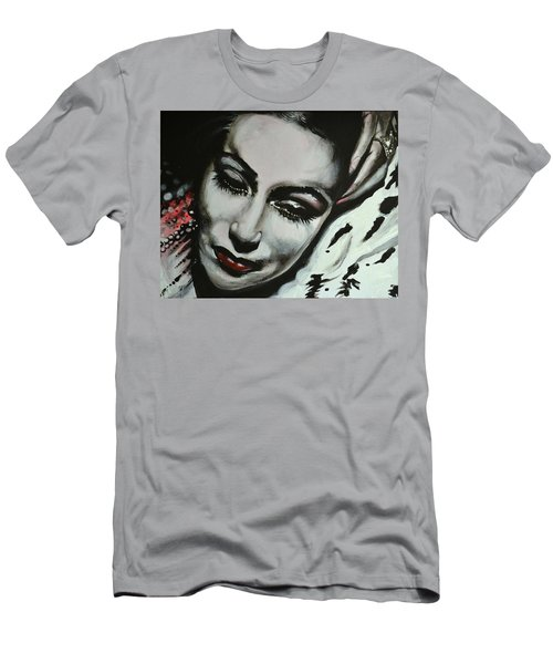 Men's T-Shirt (Slim Fit) featuring the painting Dolores by Sandro Ramani